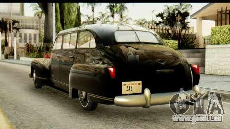 Lassiter Series 75 Hollywood pour GTA San Andreas laissé vue