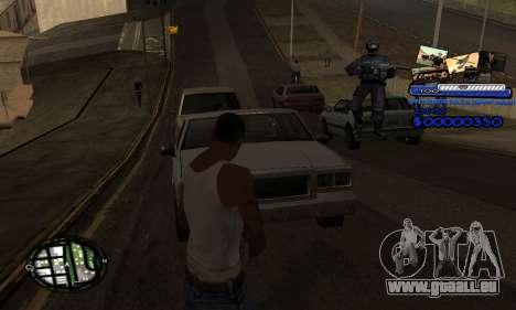 C-HUD SAPD pour GTA San Andreas troisième écran