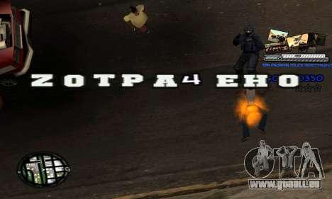 C-HUD SAPD pour GTA San Andreas quatrième écran