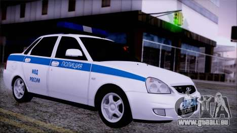 Lada Priora 2170 Polizei von der MIA Russland für GTA San Andreas