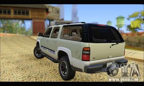 GMC Yukon XL 2003 v.2 pour GTA San Andreas sur la vue arrière gauche
