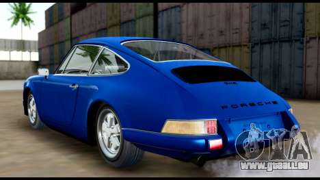 Porsche 911 Carrera 2.7RS Coupe 1973 Tunable pour GTA San Andreas sur la vue arrière gauche