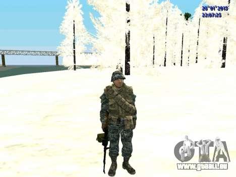 Les forces spéciales de la Fédération de russie pour GTA San Andreas deuxième écran