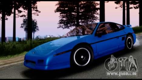 Pontiac Fiero GT G97 1985 IVF pour GTA San Andreas