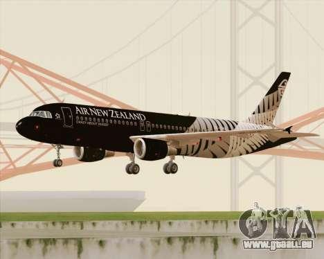 Airbus A320-200 Air New Zealand für GTA San Andreas linke Ansicht