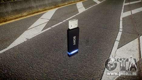 Lecteur flash USB Sony bleu pour GTA 4 secondes d'écran