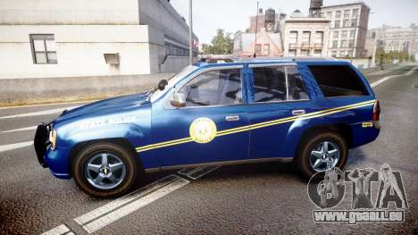 Chevrolet Trailblazer Virginia State Police ELS für GTA 4 linke Ansicht
