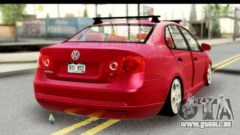 Volkswagen Bora GTI 2011 pour GTA San Andreas laissé vue