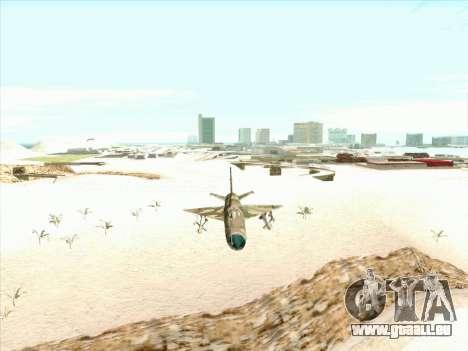 MiG 21 der sowjetischen Luftwaffe für GTA San Andreas Rückansicht