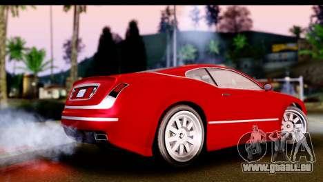 GTA 5 Enus Cognoscenti Cabrio IVF pour GTA San Andreas laissé vue