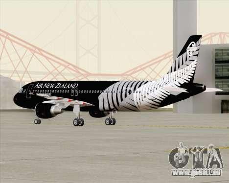 Airbus A320-200 Air New Zealand für GTA San Andreas Seitenansicht