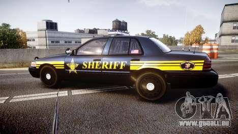 Ford Crown Victoria Sheriff [ELS] black für GTA 4 linke Ansicht