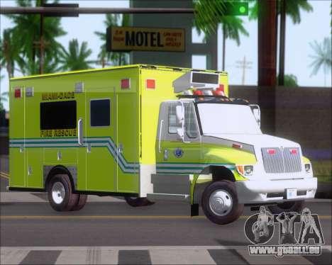 Pierce Commercial Miami Dade Fire Rescue 12 pour GTA San Andreas laissé vue
