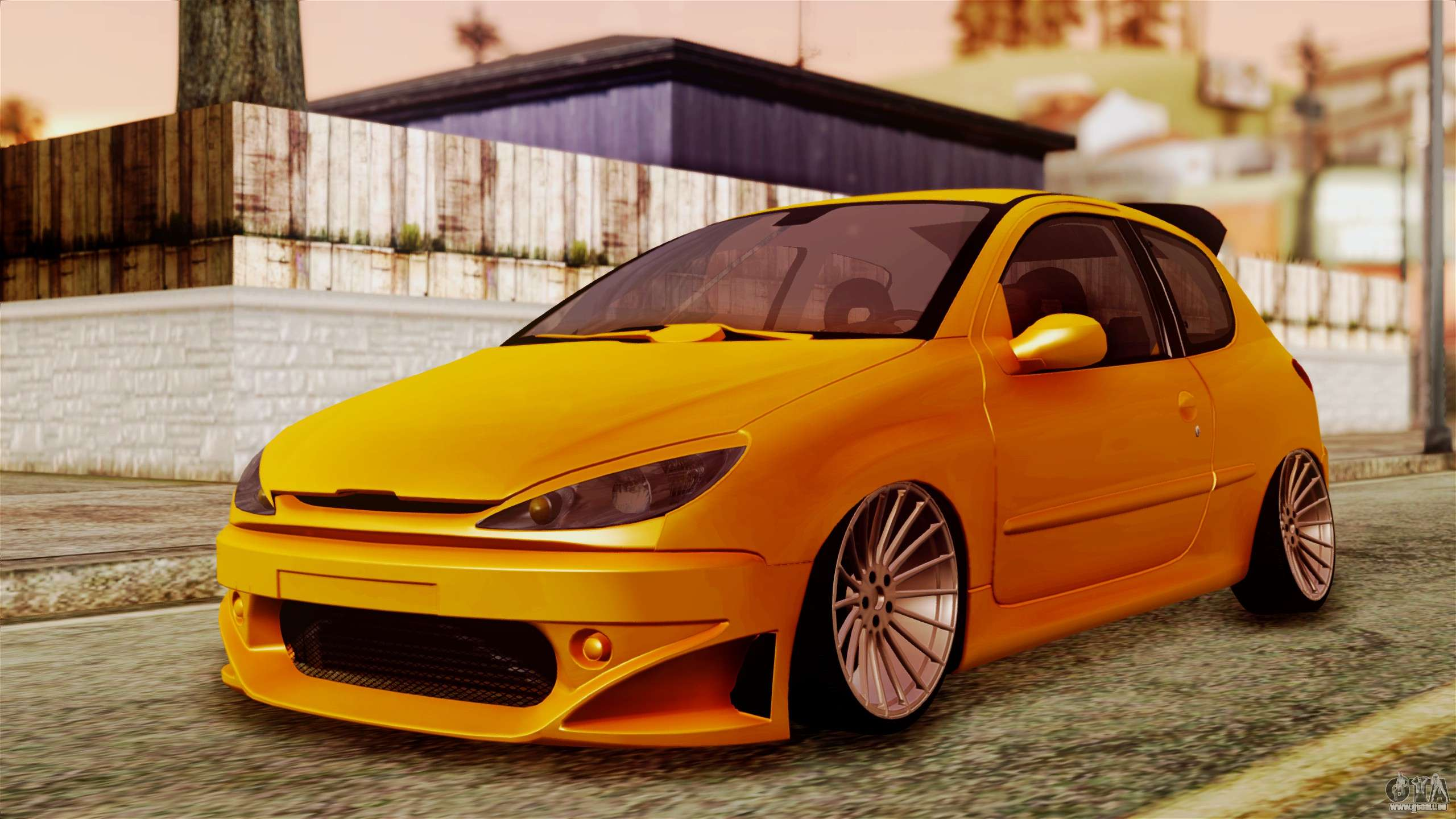 peugeot 206 camber style pour gta san andreas. Black Bedroom Furniture Sets. Home Design Ideas