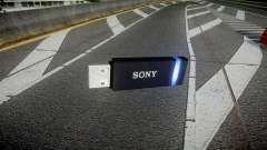 USB-flash-Laufwerk von Sony blue