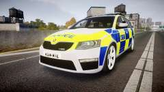 Skoda Octavia Combi vRS 2014 [ELS] Traffic Unit pour GTA 4