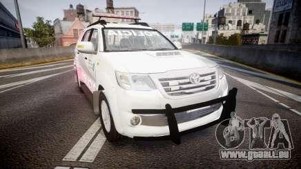 Toyota Hilux SW4 2014 Ronda PMCE [ELS] pour GTA 4