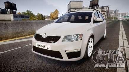 Skoda Octavia Combi vRS 2014 [ELS] Unmarked pour GTA 4