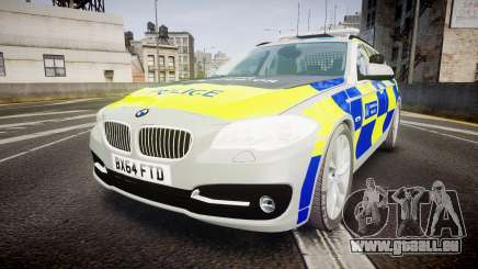 BMW 525d F11 2014 Metropolitan Police [ELS] pour GTA 4