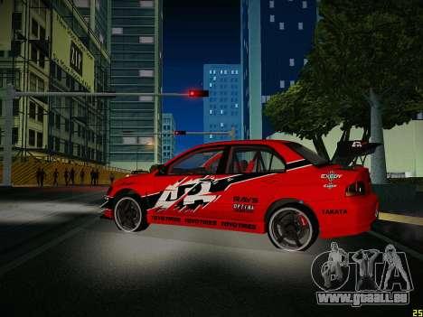 Mitsubishi Lancer Tokyo Drift für GTA San Andreas Seitenansicht