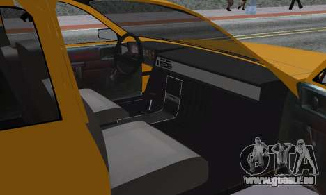 Renault 12 SW Taxi pour GTA San Andreas vue intérieure