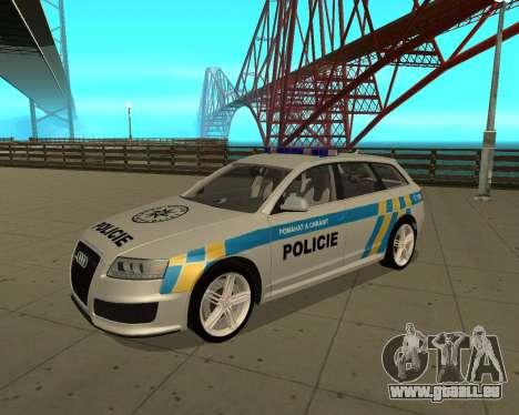 Audi RS6 Combi Police Czech Republic für GTA San Andreas