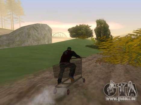 Shopping Cart pour GTA San Andreas laissé vue
