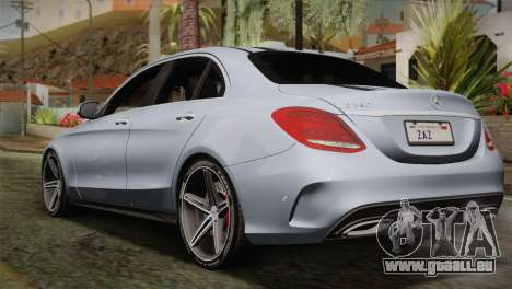 Mercedes-Benz C250 AMG Edition 2014 SA Plate für GTA San Andreas linke Ansicht