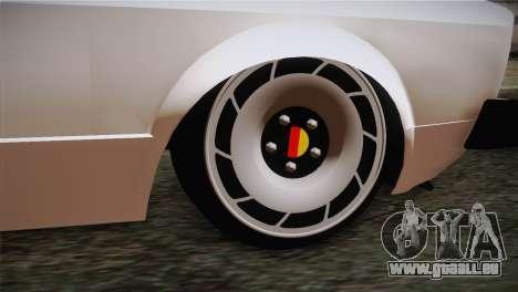 Volkswagen Caddy DRY Garage für GTA San Andreas zurück linke Ansicht