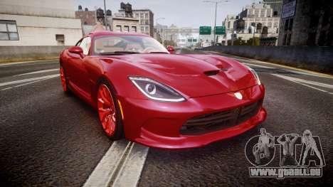 Dodge Viper SRT 2013 rims1 pour GTA 4