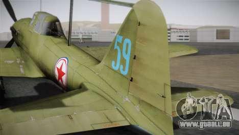 ИЛ-10 Korean Air Force pour GTA San Andreas sur la vue arrière gauche