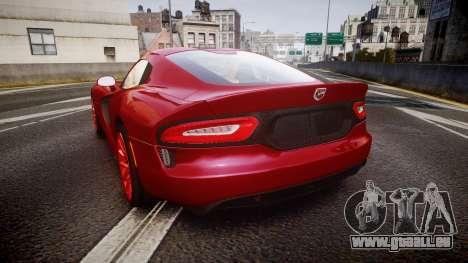 Dodge Viper SRT 2013 rims1 pour GTA 4 Vue arrière de la gauche
