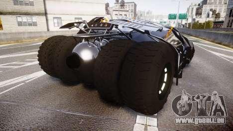 Batman tumbler [EPM] pour GTA 4 Vue arrière de la gauche