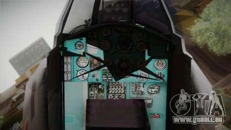 MIG 31 Estovakian Air Force pour GTA San Andreas vue de droite