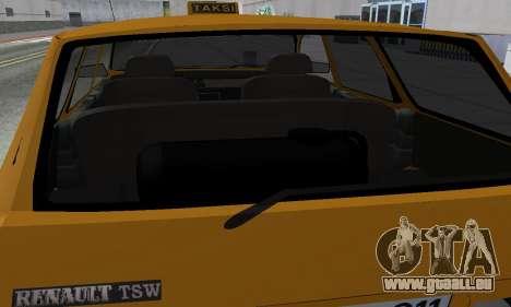 Renault 12 SW Taxi für GTA San Andreas Unteransicht
