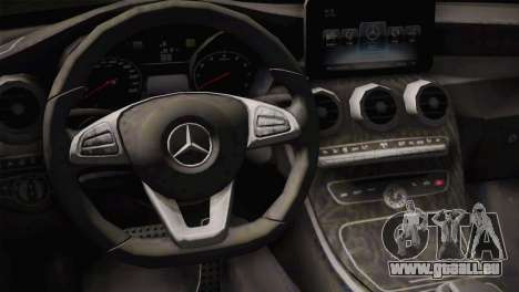 Mercedes-Benz C250 AMG Edition 2014 SA Plate pour GTA San Andreas vue de droite