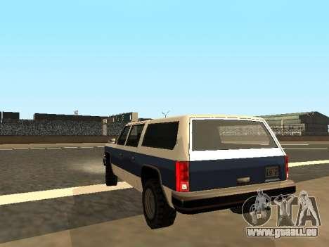 Rancher Four Door pour GTA San Andreas laissé vue
