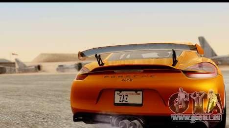 Porsche Cayman GT4 981c 2016 pour GTA San Andreas vue de droite