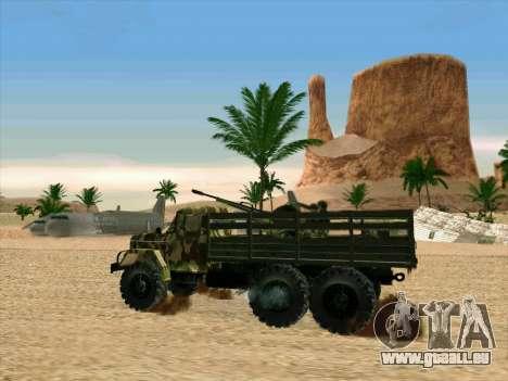 ZIL 131 Shaitan Arba pour GTA San Andreas vue de côté
