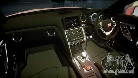 Nissan R35 GT-R V.Spec 2010 für GTA 4 Innenansicht