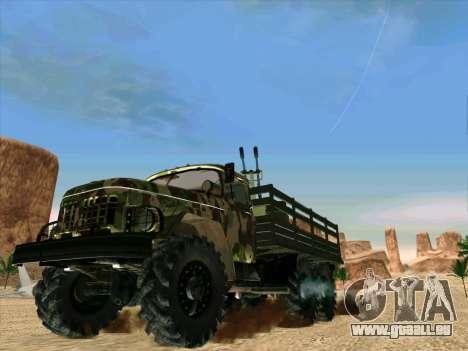 ZIL 131 Shaitan Arba für GTA San Andreas zurück linke Ansicht