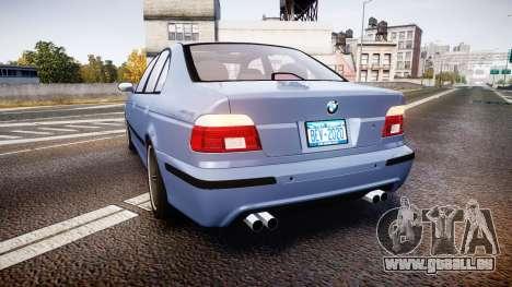 BMW M5 E39 stock für GTA 4 hinten links Ansicht
