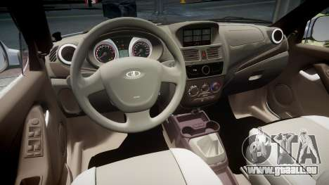 VAZ-2194 Lada Kalina 2 rims1 pour GTA 4 est une vue de l'intérieur