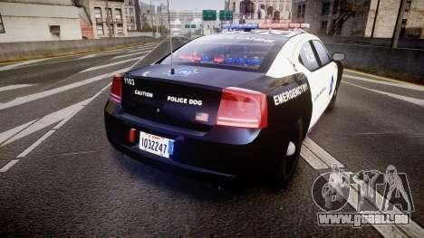 Dodge Charger 2010 LCPD K9 [ELS] für GTA 4 hinten links Ansicht