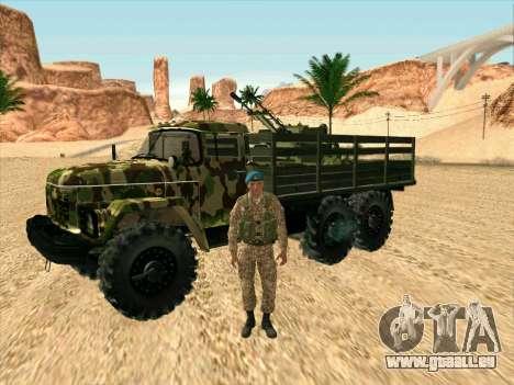 ZIL 131 Shaitan Arba pour GTA San Andreas vue intérieure