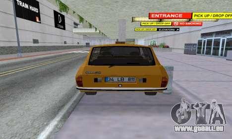 Renault 12 SW Taxi pour GTA San Andreas vue arrière
