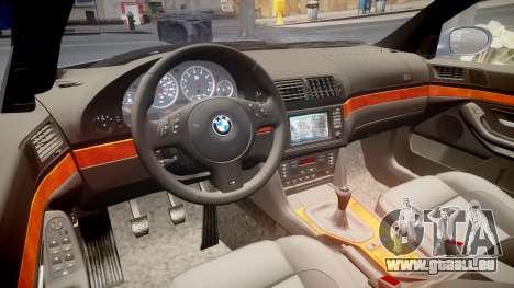 BMW M5 E39 stock für GTA 4 Innenansicht
