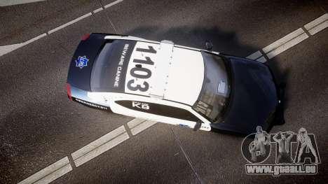 Dodge Charger 2010 LCPD K9 [ELS] für GTA 4 rechte Ansicht