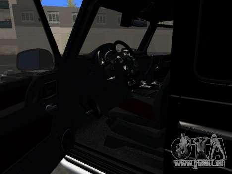 Mercedes-Benz G63 AMG pour GTA San Andreas vue intérieure