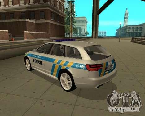 Audi RS6 Combi Police Czech Republic pour GTA San Andreas laissé vue